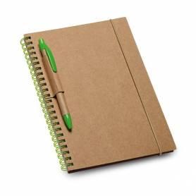 Block note carta reciclata porta penna