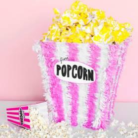 Pignatta scatola Popcorn righe rosa