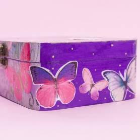 Scatola découpage farfalle