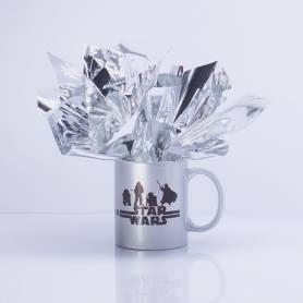 Centro tavola con tazza personalizzata Star Wars palloncini e picks