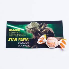 Biglietti di ringraziamento Star wars 25pz
