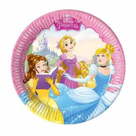 Piatti di carta princess 18 cm