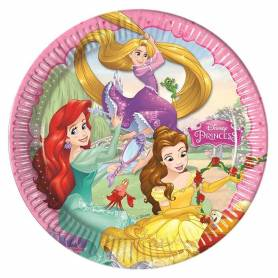Piatti di carta princess 23 cm