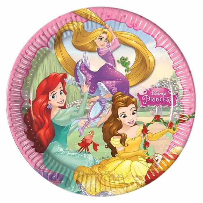 Piatti di carta princess 23 cm