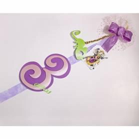 Decorazione Fiocco personalizzato Rapunzel