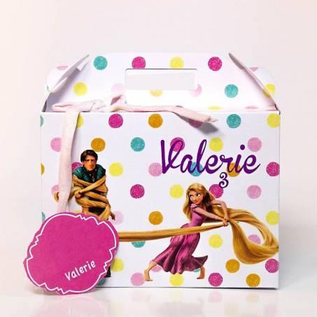 Scatola valigetta personalizzata Rapunzel