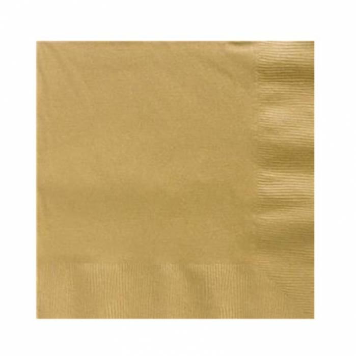 Tovagliolo carta dorato 25x25 doppio velo