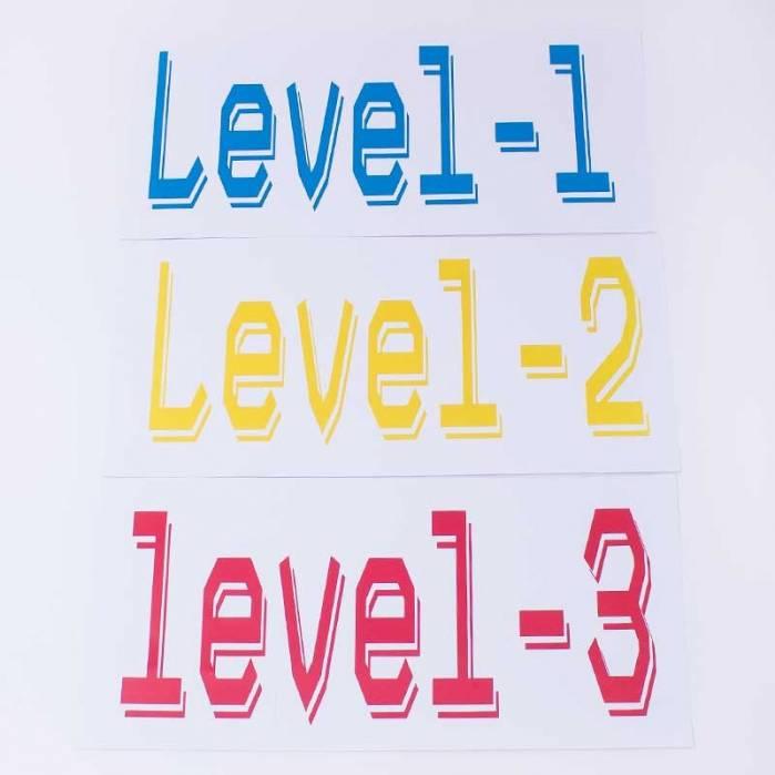 Decorazioni cartelli video games Level