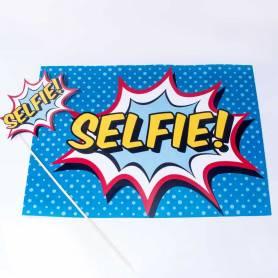 Decorazione e photo booth Selfie fumetto