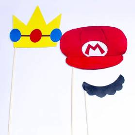Photo booth Mario Bros 5pz