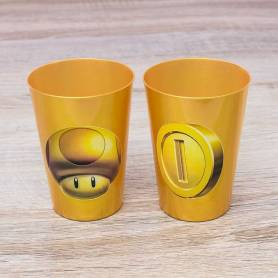 bicchieri oro personalizzati Mario Bros