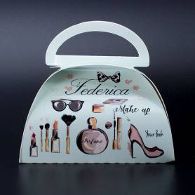 Confezione regalo borsetta manico con nome