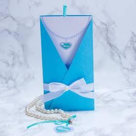 Invito collana di perle tema tiffany