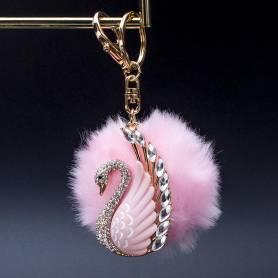 Box pom pon cigno pink