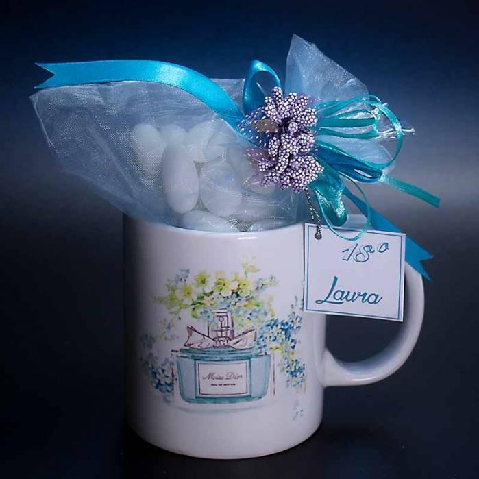 Bomboniera tazza illustrazione parfum