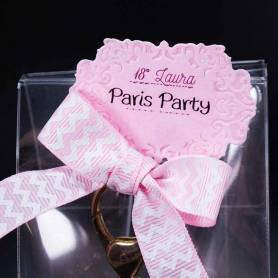 bigliettino e fiocco rosa