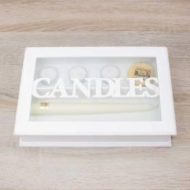 Contenitore 'candles' In Legno