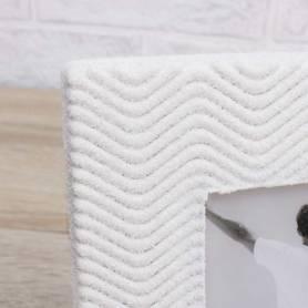 Portafoto in legno sabbiato con decoro marino