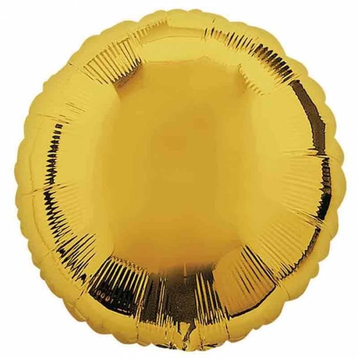 Palloncino mylar tondo oro 46cm