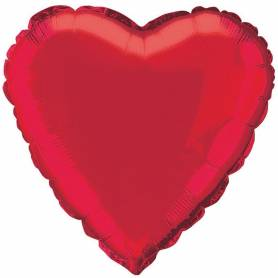 Palloncino mylar cuore rosso 46 cm
