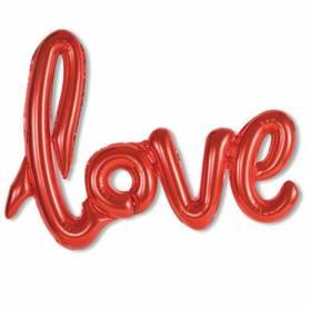 palloncino scritta Love rosso cm 108 x 64