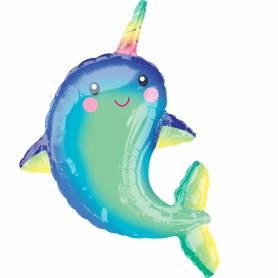 Palloncino mylar balena felice