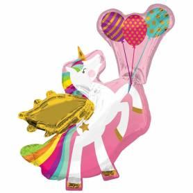 Palloncino mylar unicorno alato