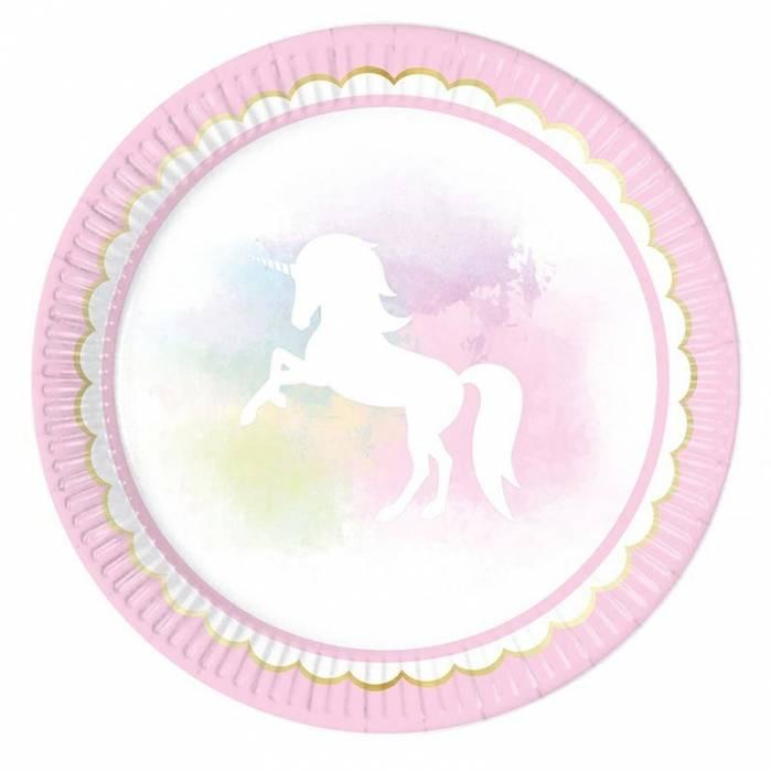 Piatti believe in unicorns fantasia unicorno