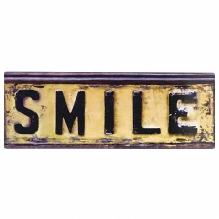 Placca smile Metallo