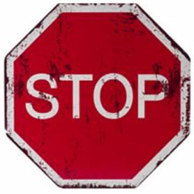 Placca metallo stop
