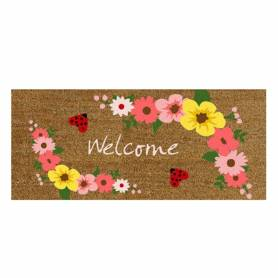 Zerbino scalino Welcome flowers
