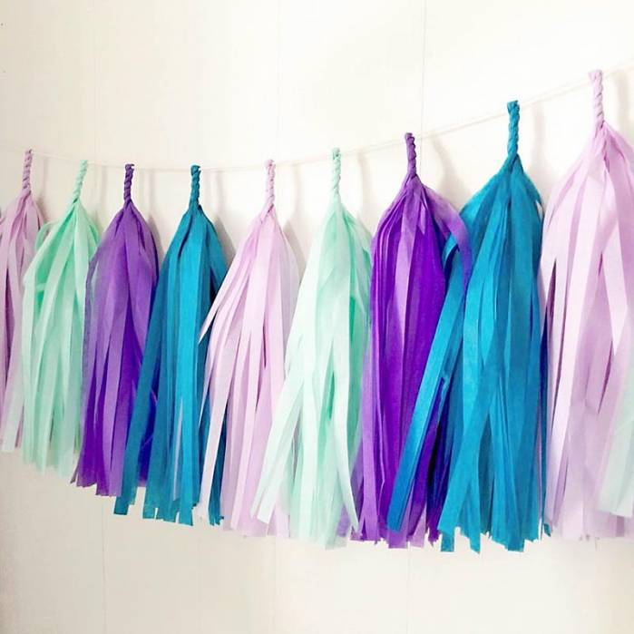 Festone nappine Mermaid colors