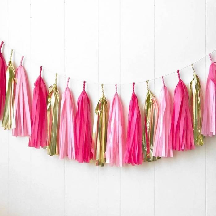 Festone nappine pink gold
