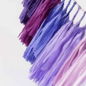 Festone nappine ombre viola