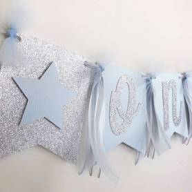 Bandierine glitter stelle personalizzato