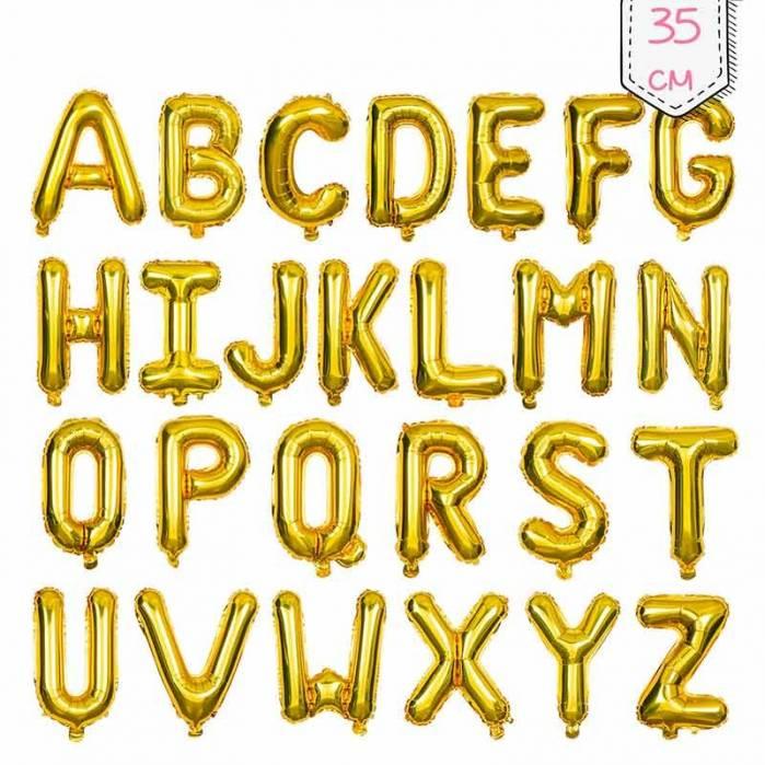 palloncino lettera mylar oro