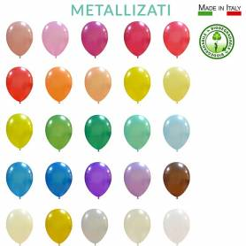 Palloncini lattice biodegradabili metallizzati 10""