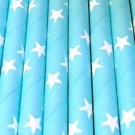 Cannucce stelle celesti di carta