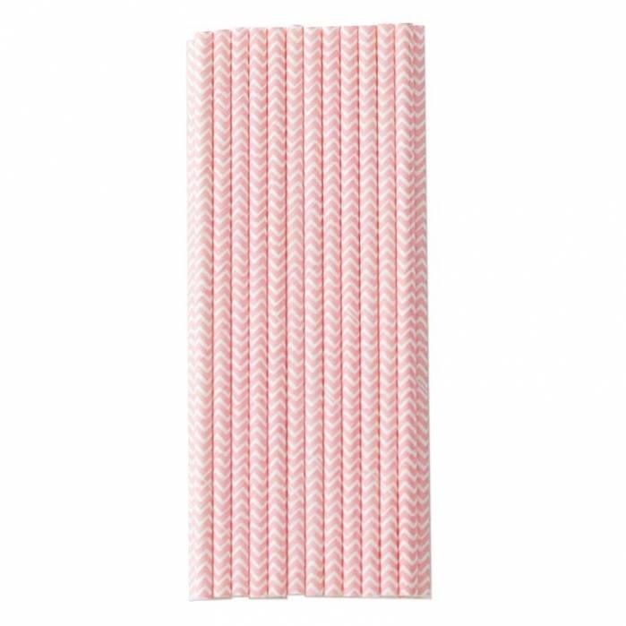 cannucce di carta a zig zag rosa