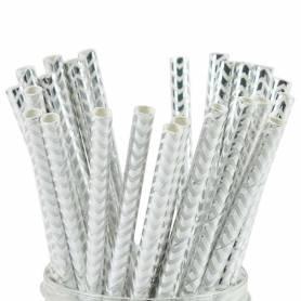 cannucce a zig zag argento di carta