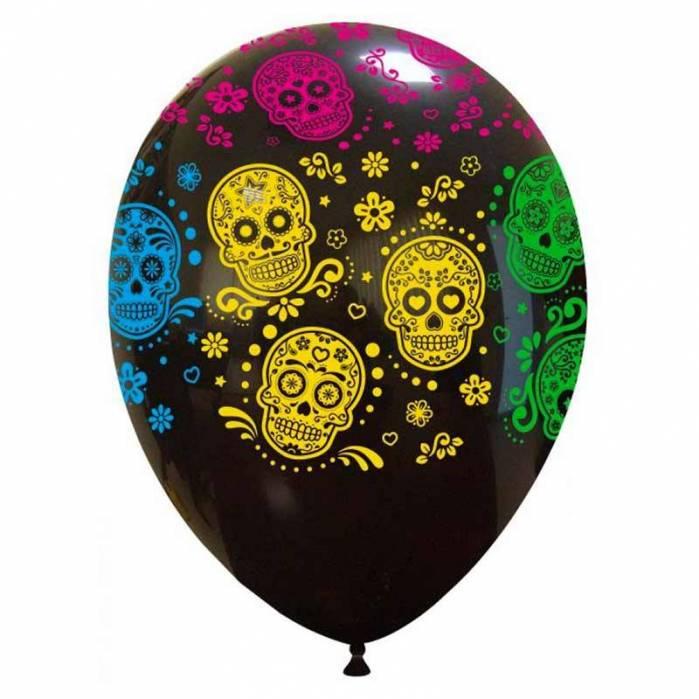 Palloncino con teschi messicani stampa a colori