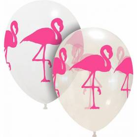 Palloncini stampa Flamingo assortiti