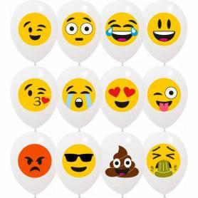 Palloncini stampa emoji assortiti