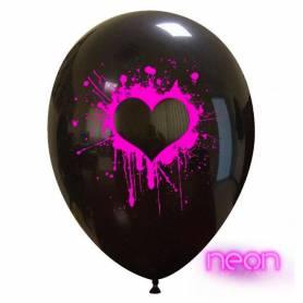 Palloncino stampa cuore neon 12