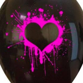 Palloncino stampa cuore neon fucsia