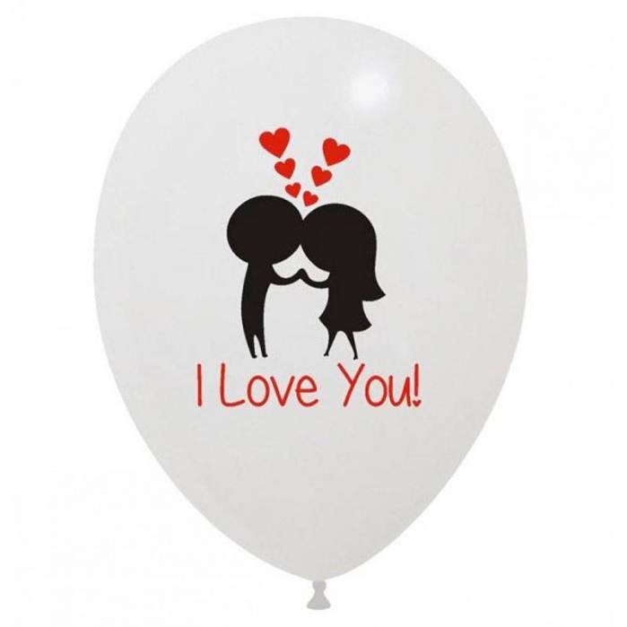 Palloncino stampa I love you Innamorati
