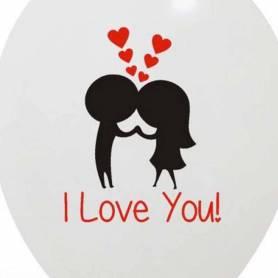 Palloncino stampa I love you Innamorati 2 colori