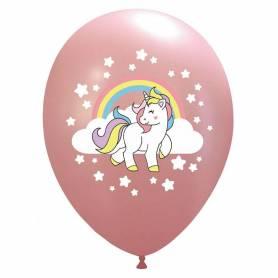 Palloncini stampa unicorno arcobaleno 7 colori