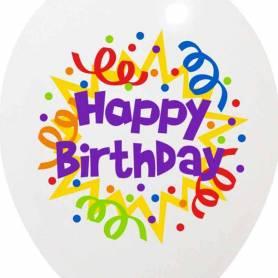 Palloncino Happy Birthday stampa colori Buon compleanno