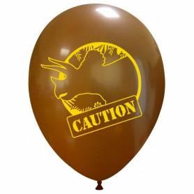 Palloncino stampa dinosauro Caution